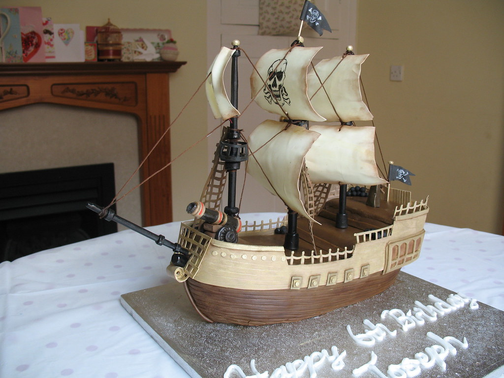 Pirate ship cake I made this cake for my little boys 6th ...