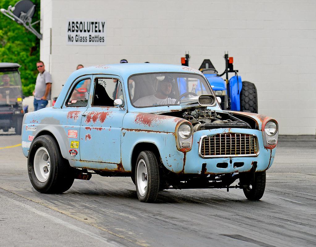 & English Ford Anglia drag car getting crooked   At the Steel u2026   Flickr markmcfarlin.com