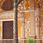 Detalle de la fachada de la misión de Concepción, Bolivia