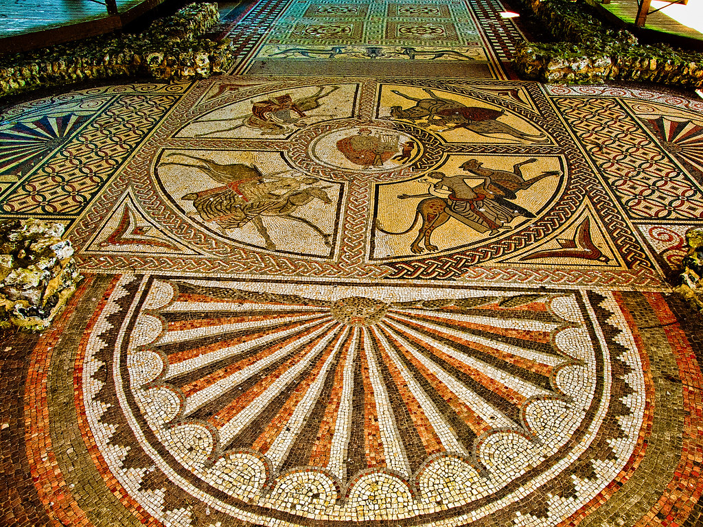 The beautiful 4th century Orpheus mosaic at Littlecote Rom…  Flickr