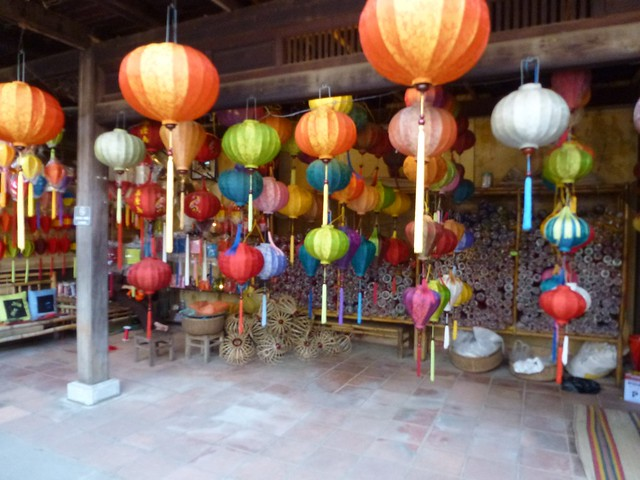 Lanterns ready for the night celebrations