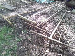 wooden hay rakes