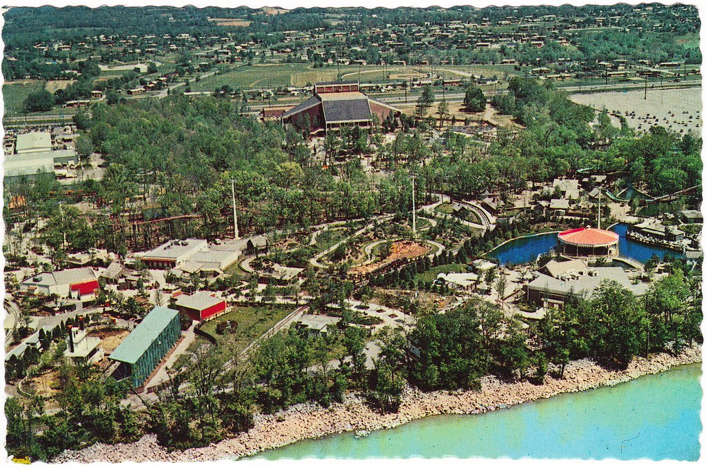 opryland usa aerial view with grand ole opry 1970s