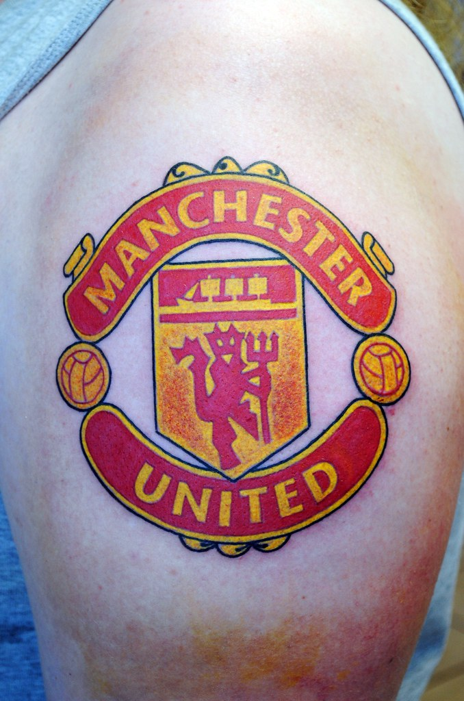 manchester united tattoo one of the most dificult tattoos flickr. Black Bedroom Furniture Sets. Home Design Ideas