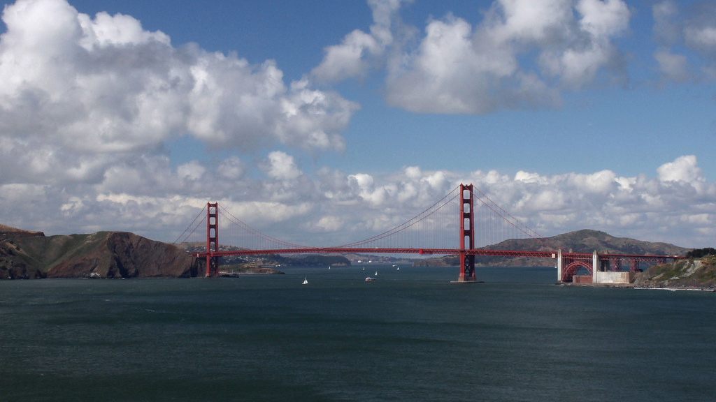 Golden Gate Bridge With Clouds I Took This As The First