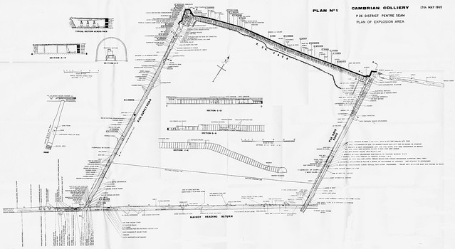 cambrian colliery explosion  17th may 1965 plan 1