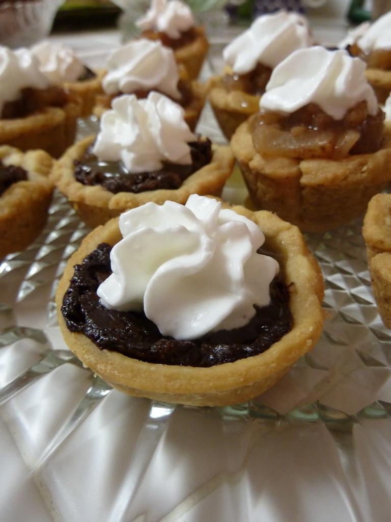 ... and Chocolate Tarts   Drizzled with butterscotch sauce…   Flickr