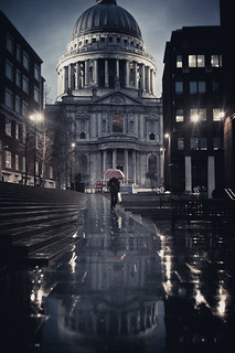 st pauls and rain | by harmonyhalo