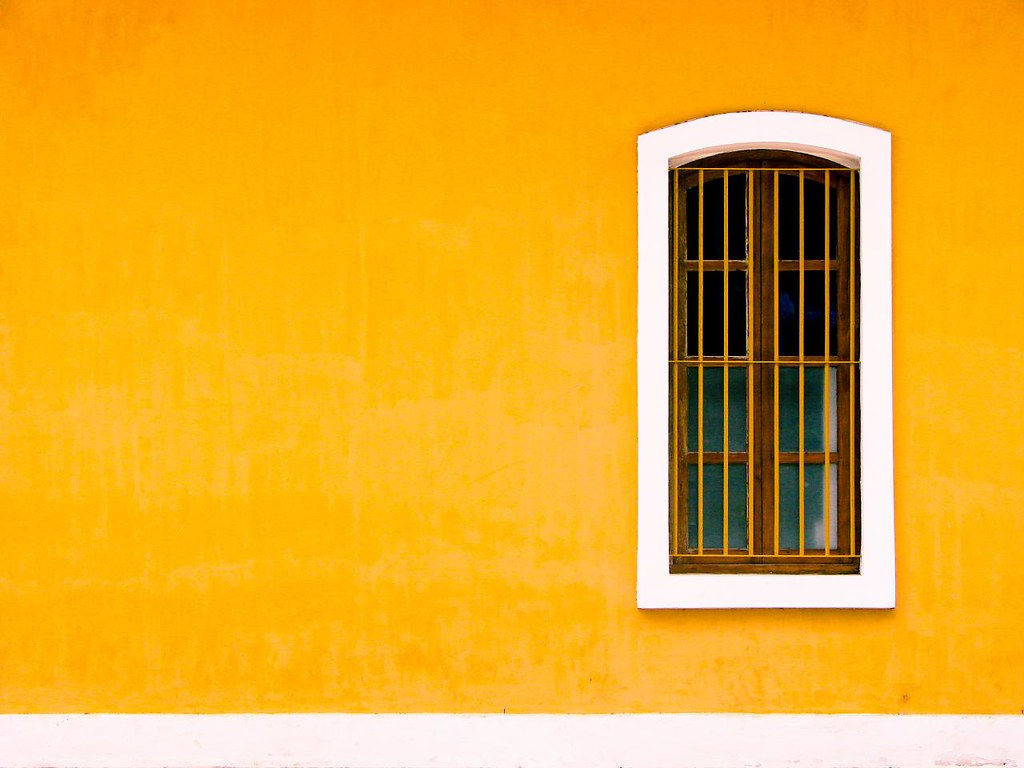 Yellow Wall Shot At French Consulate Pondicherry I
