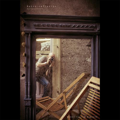 Retro-reflexion - Autoportrait