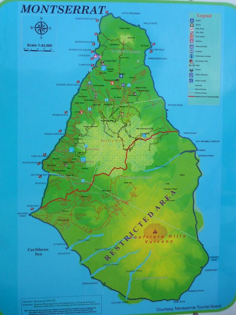 Map Of Montserrat In Montserrat Lauren Delizia Flickr - Montserrat map