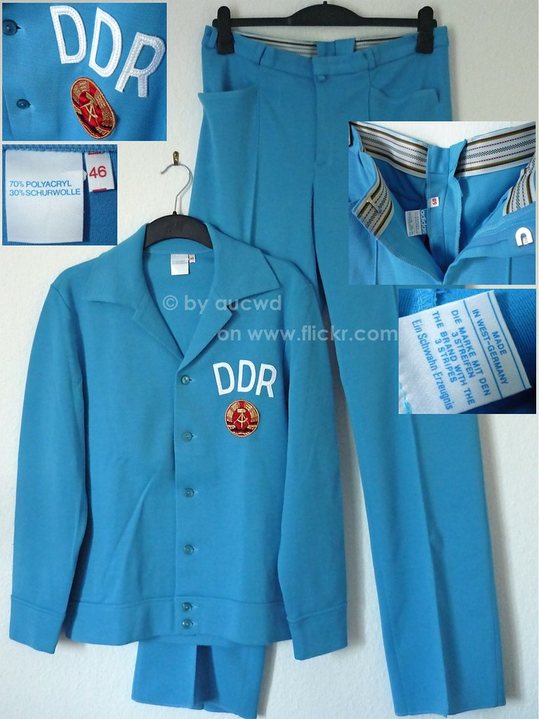 New 70 S 80 S Vintage Adidas Ddr Tracksuit Tracktop And