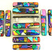 Colorful Mosaic Glass Cabinet Drawer Pulls Handles Hardware