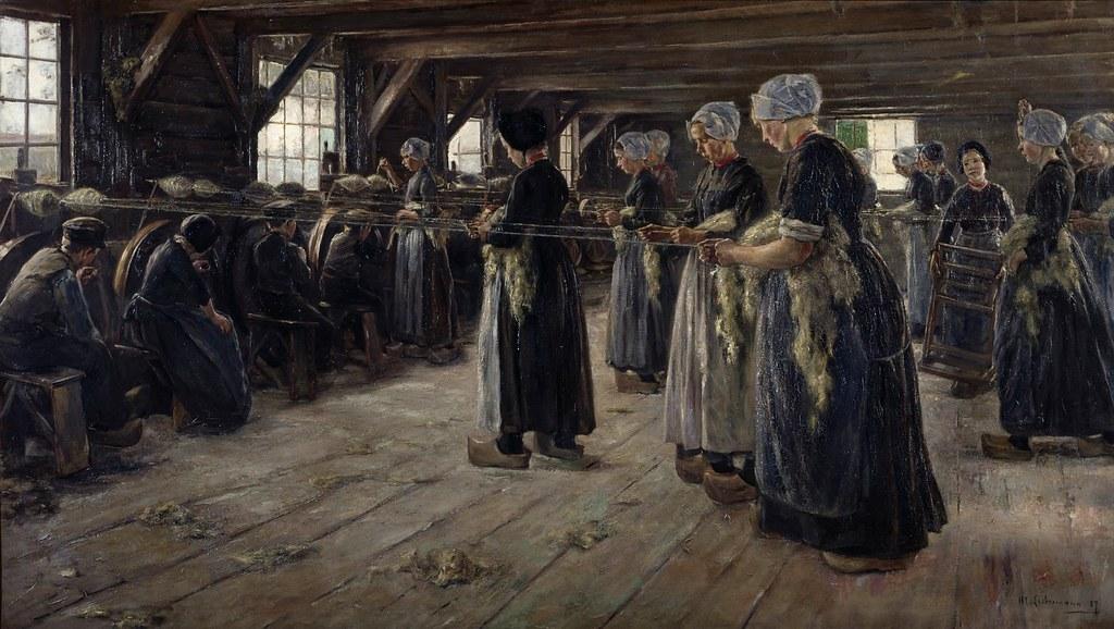 Max Liebermann - The Flax Barn at Laren | The Flax Barn at ...