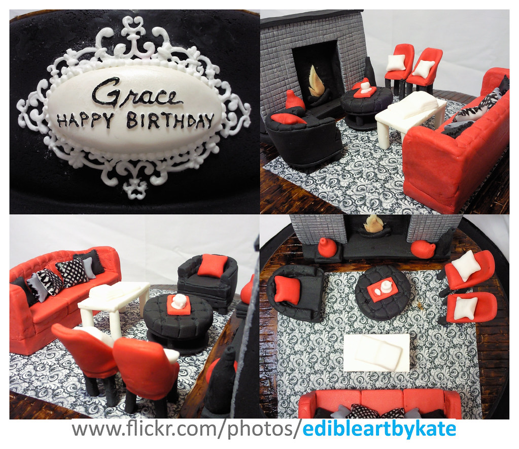 Interior Design Cake Close Ups Birthday Lady Is An