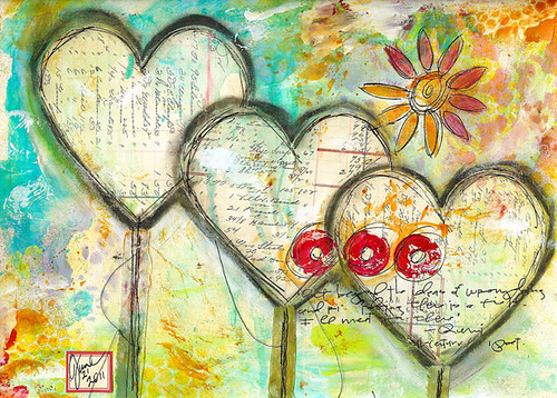 Triple art journal page | by Roben-Marie