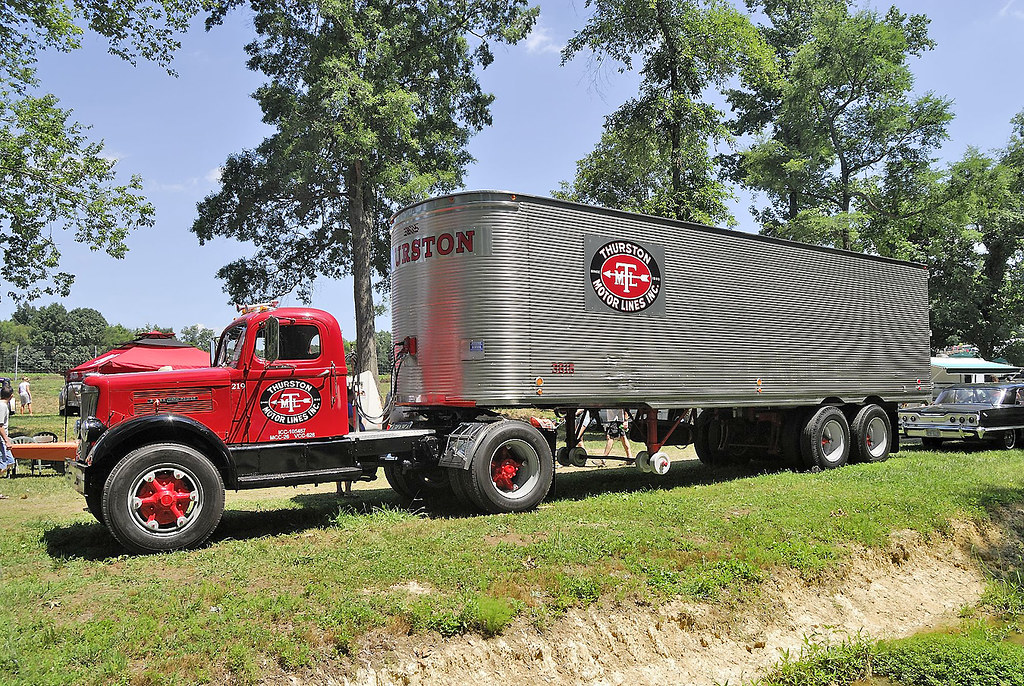 Vintage Truck For Sale >> 1952 White SuperPower truck and trailer | At the Southeast O… | Flickr