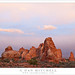 Sandstone Towers, Evening Clouds