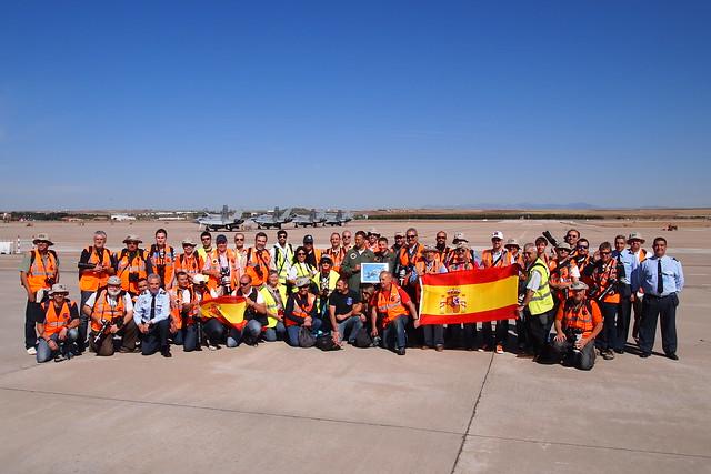 Visita Asociación Aire al Ala 12 del Ejército del Aire. Base Aérea de Torrejón, 16 de mayo de 2014. GRACIAS!!