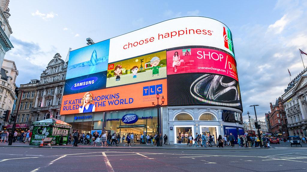 esquina de Piccadilly Circus
