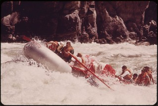 Shooting Wild Sheep Rapids on the Snake River in Hells Canyon..., 05/1973 | by The U.S. National Archives
