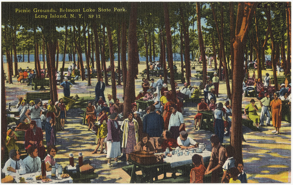 Picnic Grounds Belmont Lake State Park Long Island N Y