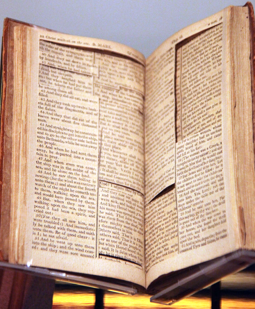 Source bible for the Jefferson Bible - Smithsonian Museum ...