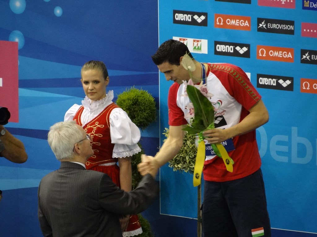 Kis Gergő being congratulated at Debrecen 2012   Hungary's G ...
