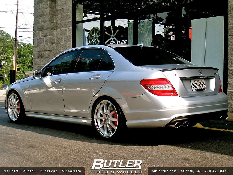 Mercedes C63 with 19in Mandrus Wilhelm Wheels and H&R Lowe ...