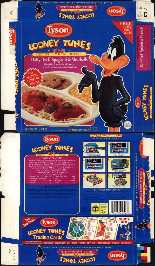 Tyson Looney Tunes Meal Daffy Duck Spaghetti Amp Meatbal