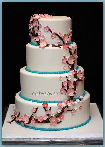 japanese cherry blossom wedding cake cherry blossoms wedding cake flickr photo 16585