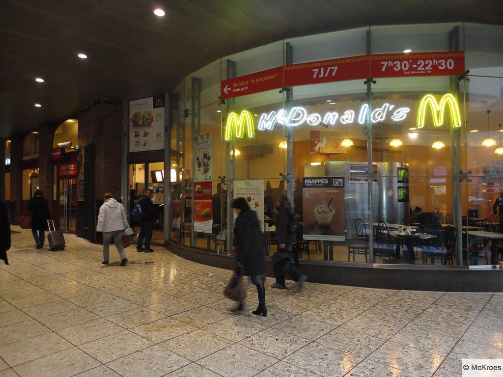 McDonalds Lille Gare SNCF Lille Flandres Rue de Tournai Flickr