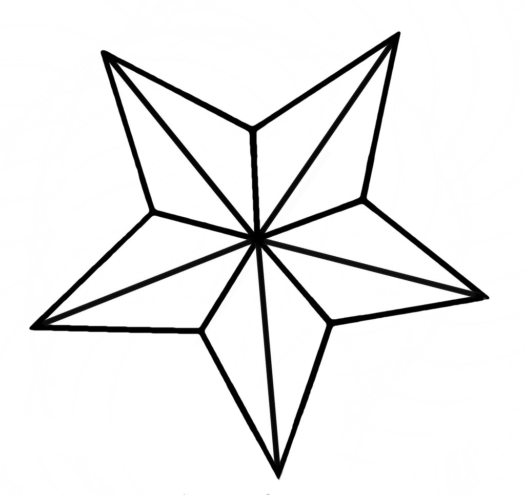 Star Outline Drawing Nautical Star | Flickr Photo