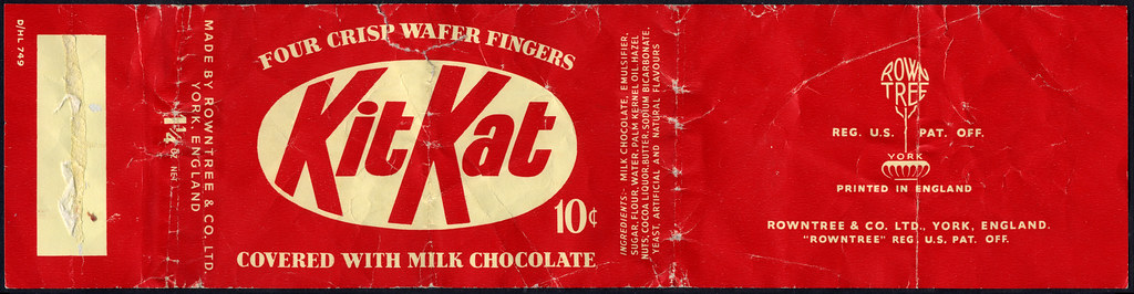 Rowntree - KitKat - Kit Kat - 10-cent candy bar wrapper - …   Flickr