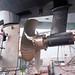 No. 2 end propeller and rudder installed