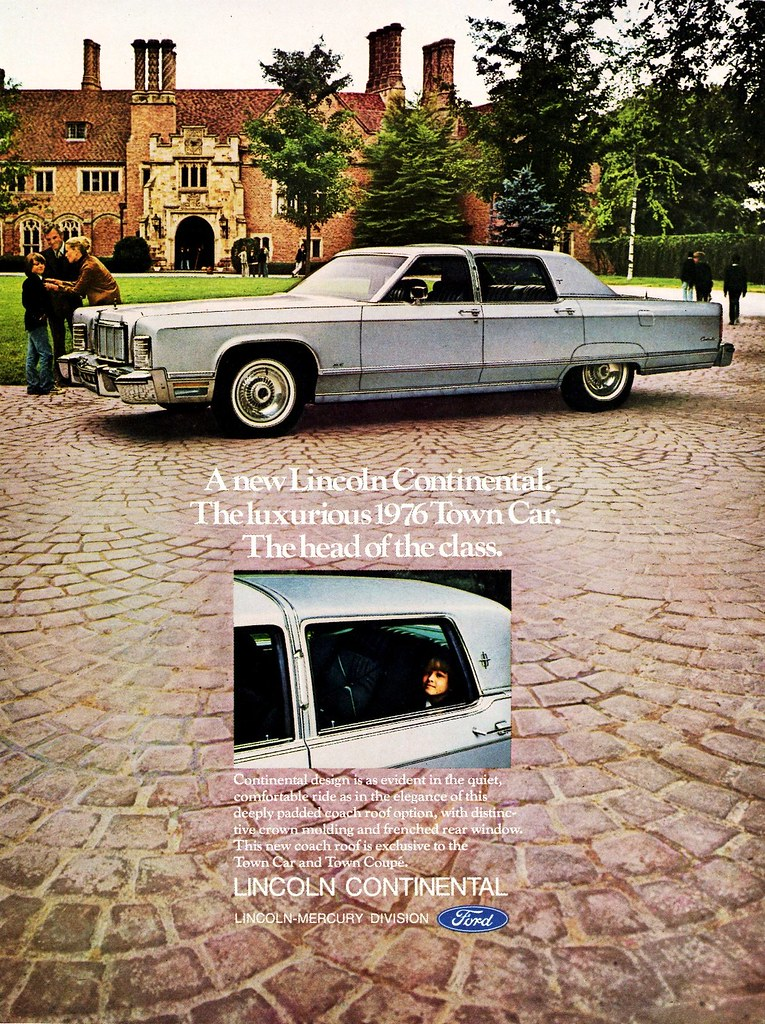 1976 lincoln continental town car with optional coach roof flickr. Black Bedroom Furniture Sets. Home Design Ideas