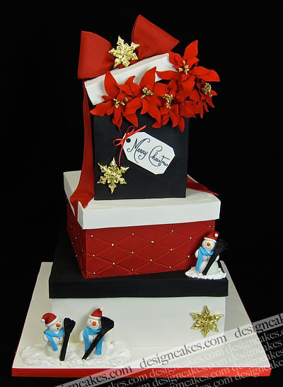 Decorated Gift Box Cakes