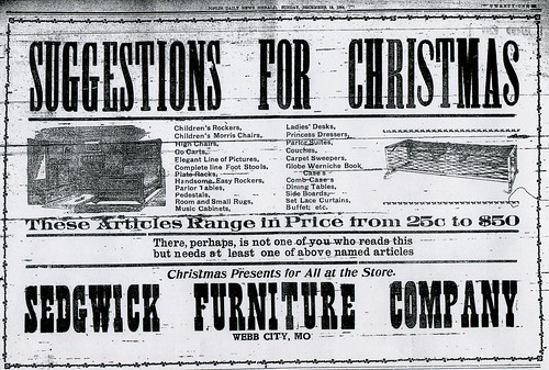 Sedwick Furniture Company Ad | by thomaswolfesghost