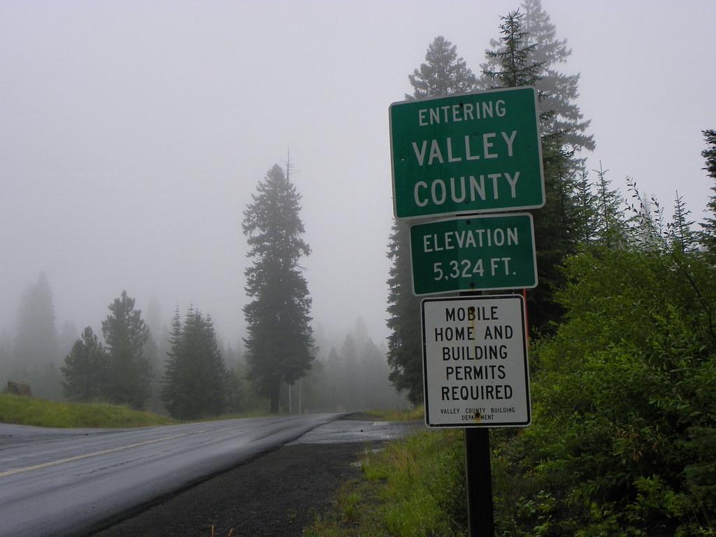 Entering Valley County Idaho Entering Valley County