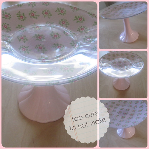 Diy too pretty cake stand flickr photo sharing for Pretty cake stands
