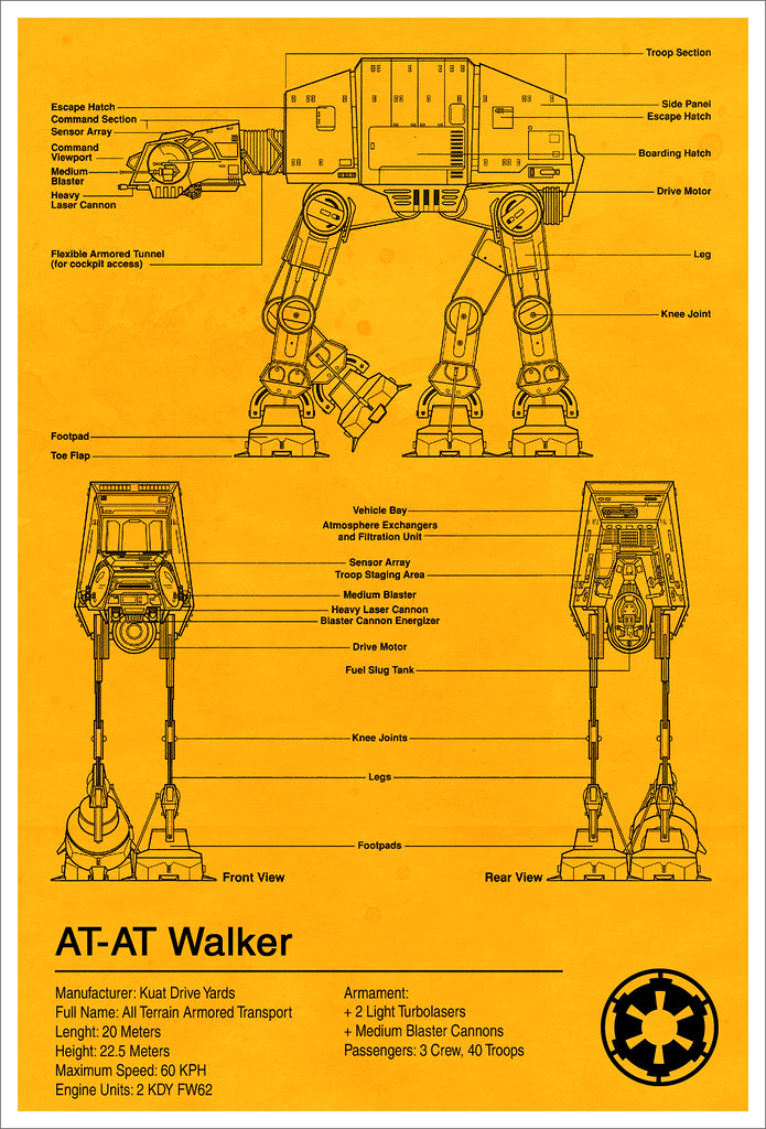 At-at Walker Blueprint