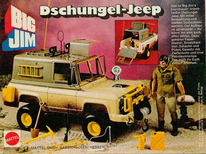 big jim dschugel jeep mattel 1979 klaus eike. Black Bedroom Furniture Sets. Home Design Ideas