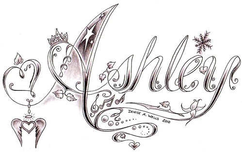 ashley tattoo design by denise a wells by denise a wells