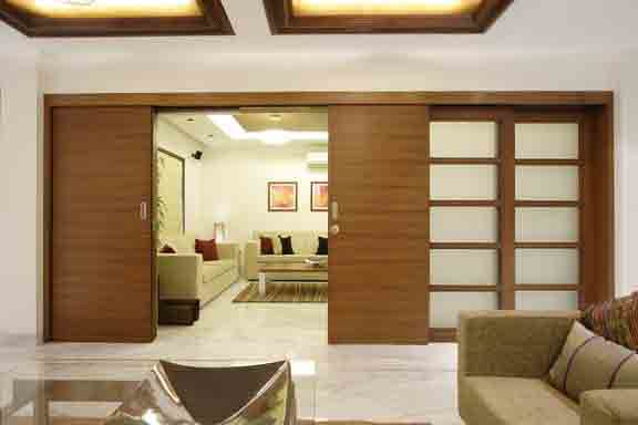 Living room design ideas sliding doors by mahesh punjabi a - Living room design ideas and photos ...