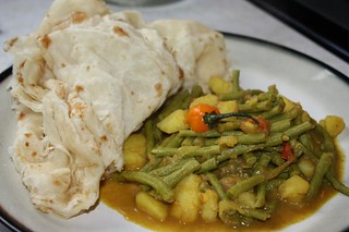 trini curry bodi with roti | by Caribbean Pot