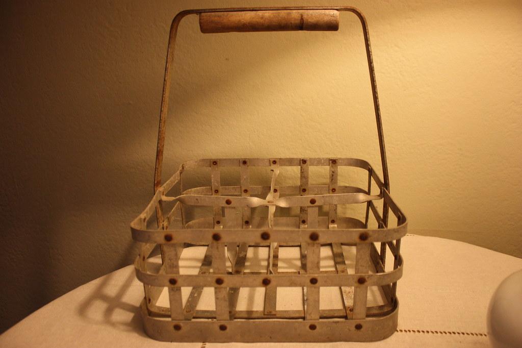 vintage french milk bottle carrier i really love this. Black Bedroom Furniture Sets. Home Design Ideas