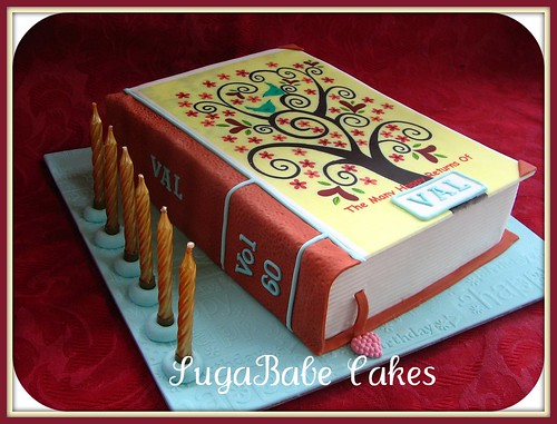 Cake Designs Book Shape : 60th birthday by Kathy (SugaBabe Cakes)