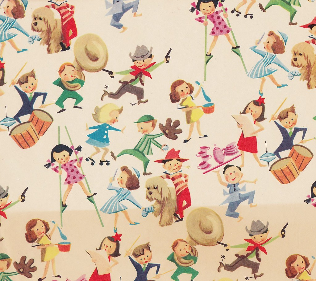 vintage children 39 s gift wrap isn 39 t this wrap fantastic