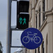 Bicycle signs in Vienna, Austria
