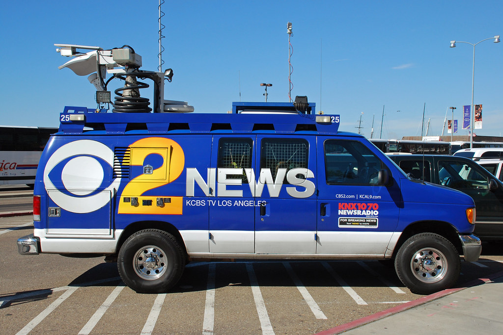 TV News Van | Dozens of news vans from all over Southern ...